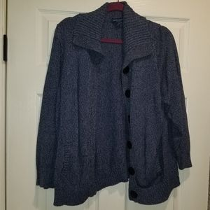 Karen Scott blue cardigan